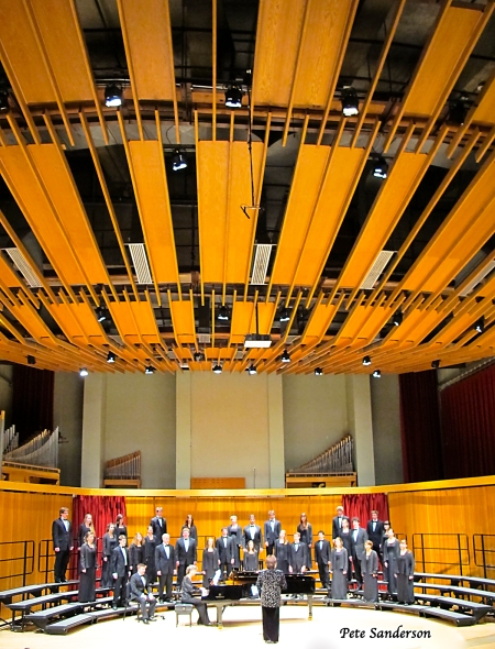 University of Wisconsin Stevens Point Concert Choir performing in Michelson Concert Hall