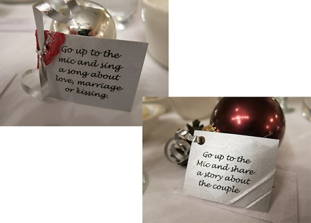 Wedding Balls with individual instructions.
