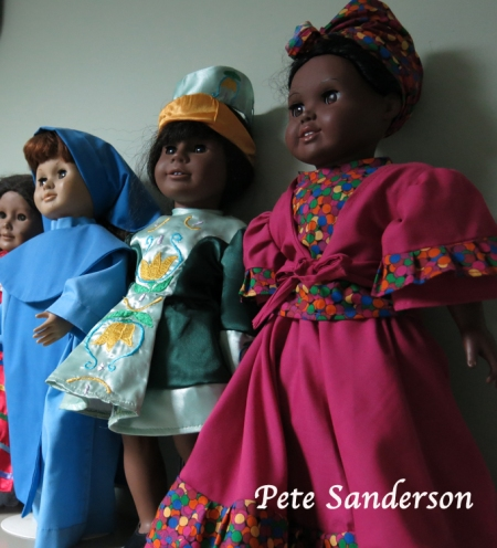 "Cloths of 18 inch dolls are a popular export to the USA market. Sales of the cloths really took off after an appearance on ""Sewing with Nancy""."