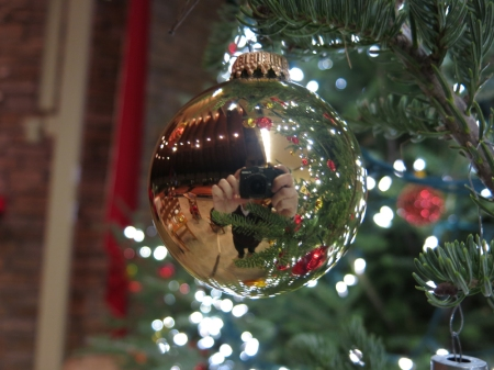 My self portrait in a Christmas Tree Ornament.