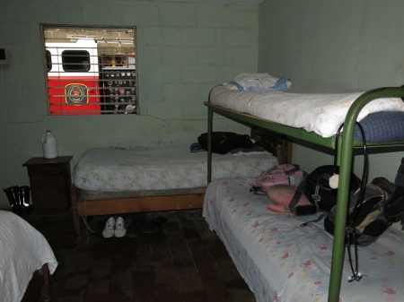 Jose's bedroom is also the Fire Department's on call sleep room.