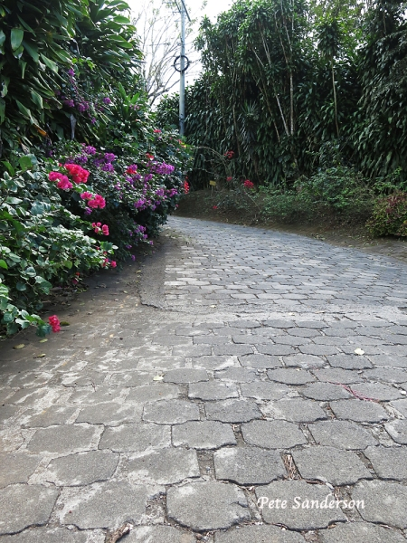 Roads in the lower regions of Mombacho are constructed using paving stones. Pavers are commonly used in Nicaragua as they stand up better to the ravages of the wet season and are easier to repair than paved roads.