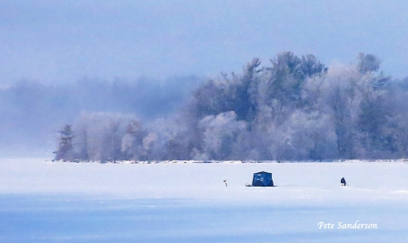 Ice Fishing on Lake Dubay. Click on the image for a larger version.