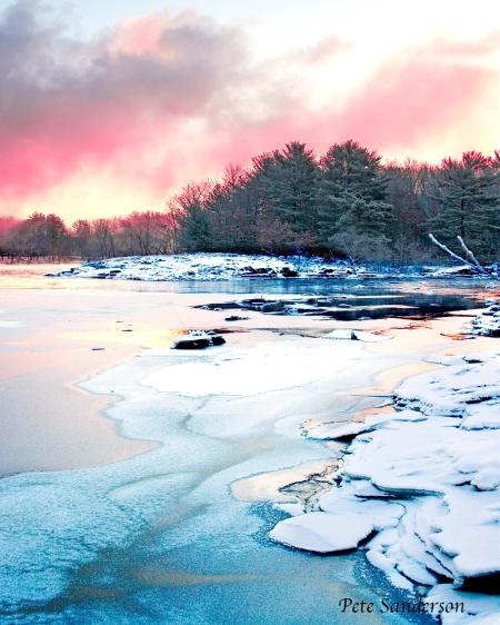 The Wisconsin River near Stevens Point, Wisconsin