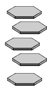 Plate like crystals