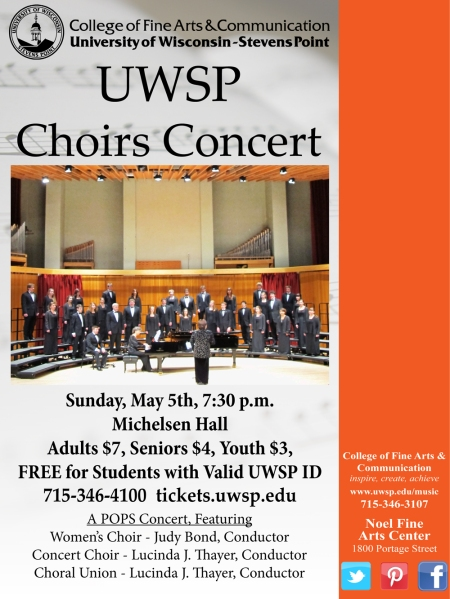UWSP Choirs Concert, May 5, 2013
