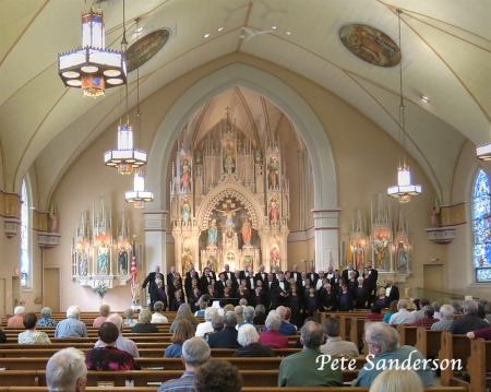 "Monteverdi Chorale, ""Song and Dance"" at St. Peter's Church in Stevens Point, WI.  April 28, 2013."