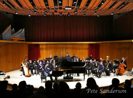 "Raffi Besalyan performing ""Rhapsody in Blue"" with the UW-Stevens Point Wind Ensemble conducted by Brendan Caldwell."