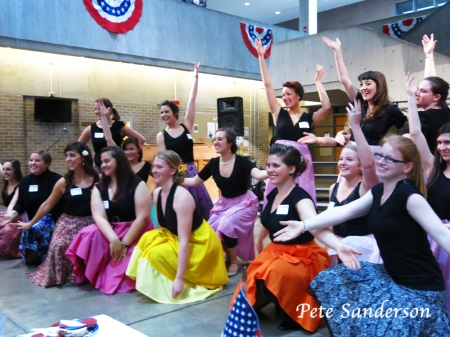 A song and dance number at Soirée Musicale