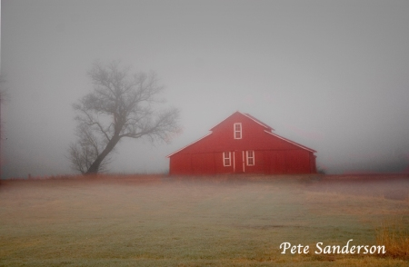 Red Barn in Portage County Wisconsin